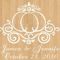 Wedding Dance Floor Decals Cinderella's Pumpkin Coach