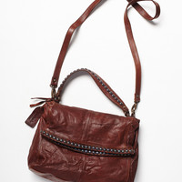 Free People Womens Greyson Leather Crossbody - Distressed Brown One