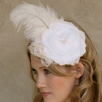 Handmade by Sara Kim  Flower Lace Feather