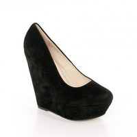 Platform Wedge in Black - ShopSosie.com