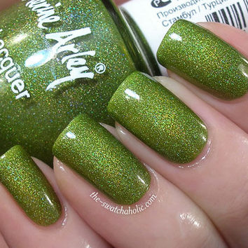 Nail of the day: Catherine Arley holo nail polish 803 swatch | The Swatchaholic . a blog about nail polish and makeup
