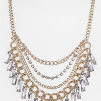 Stephan & Co. Rhinestone & Chain Bib Necklace | Nordstrom