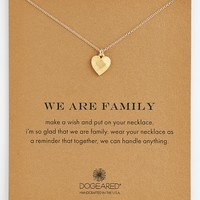 Women's Dogeared 'We Are Family' Boxed Pendant Necklace - Gold