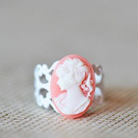 victorian gardens indie cameo ring at ShopRuche.com