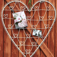 Heart Shaped Wire Card Holder