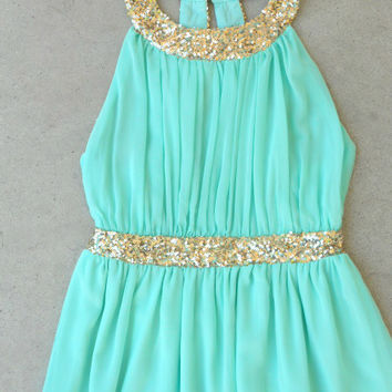 Grecian Embrace Dress in Mint [5264] - $42.00 : Vintage Inspired Clothing & Affordable Dresses, deloom | Modern. Vintage. Crafted.