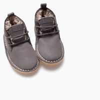 Lined leather desert boot