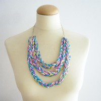 Neon Braided Necklace on Luulla