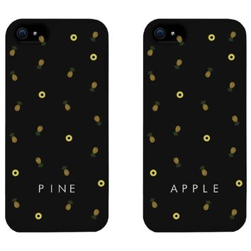 Best Friends Pineapple Print Matching BFF Phone Cases for iphone 4, iphone 5, iphone 5C, iphone 6, iphone 6 plus, Galaxy S3, Galaxy S4, Galaxy S5