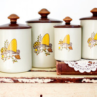 Retro Mushroom Baking Canister Set