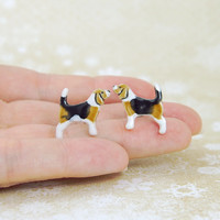 Dog Lover Gift Beagle Stud Earrings