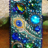 Stunning Unique Peacock iPhone 4/4s case