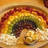 kiddos / Rainbow fruit! I love the pot of gold