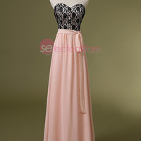 Blush Long Bridesmaid Prom Dress Party Formal Military Gown A-line Strapless