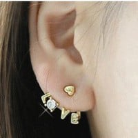 Sparkly Love Statement Earrings | LilyFair Jewelry
