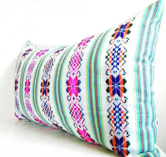 Long Bolster Pillows, White Long Pillow, from CityGirlsDecor on