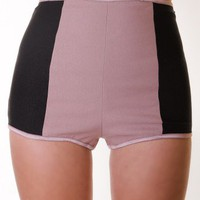 TAUPE COLORBLOCK HOT SHORTS @ KiwiLook fashion