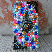 Sparkly Rainbow Custom iPhone 4/4S Case- Fancy Fascination