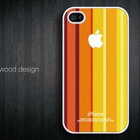 iphone 4 case iphone 4s case iphone 4 cover red yellow  rainbow colors  graphic design printing ($13.99)