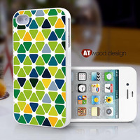 Iphone case iphone 4 case iphone 4s case iphone 4 cover colorized patches of colour Green style graphic beautiful design printing ($13.99)