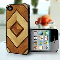 iphone 4 case iphone 4s case iphone 4 cover wood  texture  graphic design printing ($13.99)