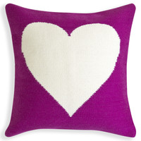 Reversible Purple And Natural Peace/Love Pop Throw PillowITEM #: 24216