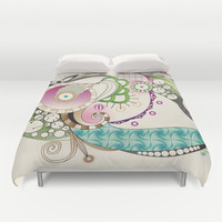 Autumn tangle, sienna - purple color set Duvet Cover by /CAM