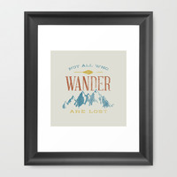 Not All who Wander are Lost Framed Art Print by Zeke Tucker