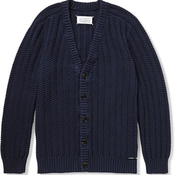 Maison Martin Margiela - Slash-Detailed Cotton Cardigan | MR PORTER