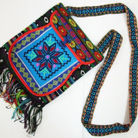 Handmade Messenger Bag, Chinese Traditional Pattern, Embroidered Applique Bag, Oriental style and Retro fashion for daily use and decor