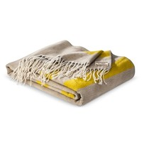 "TOMS for Target Acrylic fringe throw Cream 50""x60"""