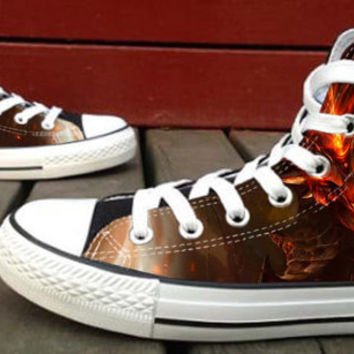 Diablo 3  Custom High Top Canvas Shoes for Women,men by HightShoes