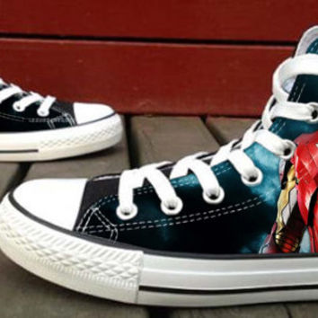 Iron Man Tony Stark  Custom High Top Canvas Shoes for Women,men by HightShoes