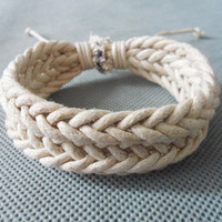 Jewelry bangle ropes bracelet woven bracelet leather bracelet girls bracelet women bracelet made of  hemp ropes woven bracelet cuff  SH-1942