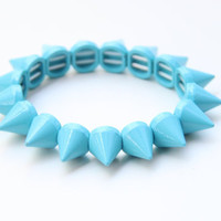 Light blue Spikes stretchable bracelet