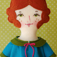 Rosie - PDF Pattern Wool Felt Doll  on Luulla