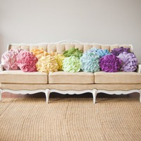 Custom made ruffle rose pillow SMALL  as seen by thatfunkyboutique