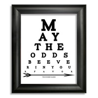 The Hunger Games Eye Chart, May The Odds Be Ever In Your Favor, 8 x 10 Giclee Print BUY 2 GET 1 FREE