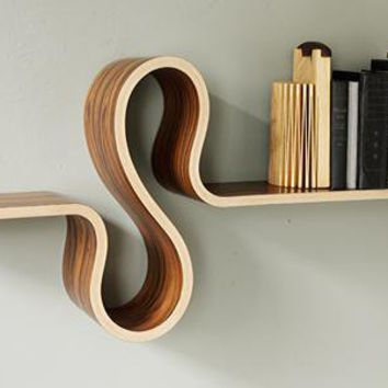 S Shelf by Kino Guerin: Wood Shelf - Artful Home