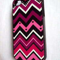 Chevron Design iPhone 4 - 4S Cover Plum Berries iPhone Case
