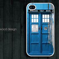 Doctor Who Tardis iphone case iphone 4s case iphone 4 cover iphone case peel off style Police Box iPhone case design