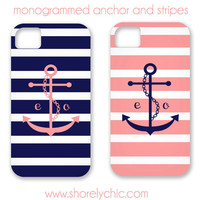 Anchor &amp; Stripes iPhone Cover