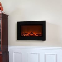 Wall-Mounted Indoor Electric Fireplace | The Gadget Flow