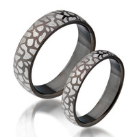Gullei Trustmart : Engravable Vintage leopard pattern matching cheap online couple rings [GTMCR0035] - $19.00 - Couple Gifts, Cool USB Drives, Stylish iPad/iPod/iPhone Cases & Home Decor Ideas