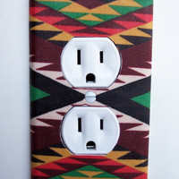 Aztec Weave Outlet Plate Switch Plate Switchplate