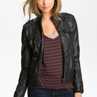 Collection B Faux Leather Jacket (Juniors) | Nordstrom