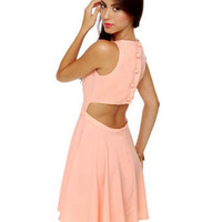 Cute Peach Dress - Cutout Dress - Sleeveless Dress - $47.00