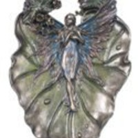 For Her | Fairy on Foliage Dish (Bronze)
