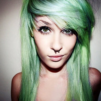 L I M O N  lime and lemon ombre / clip-in hair/ free people style/ dip dye / tie dye/ ombre (4) hair extensions/ READY to SEND