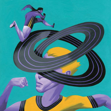 Runner's High Art Print by Thomas Fuchs | Society6